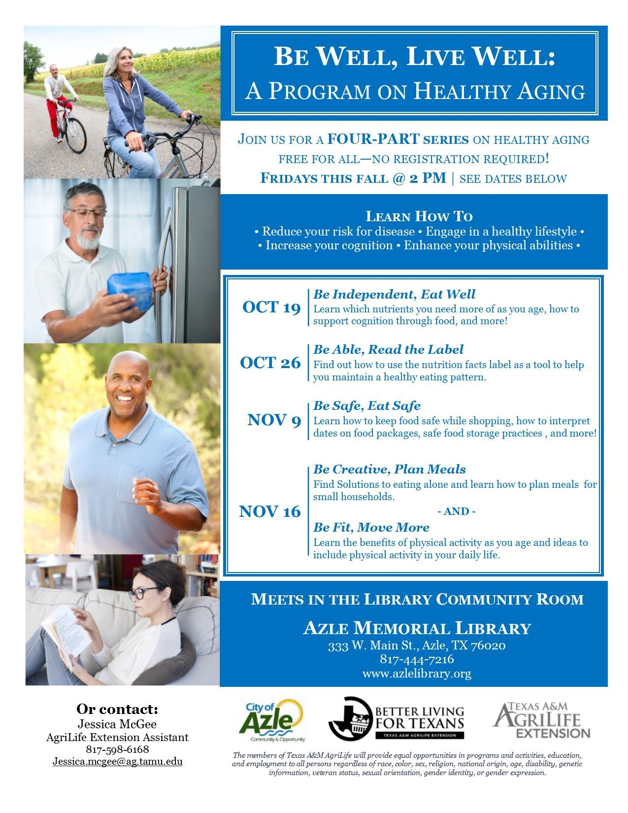 Healthy Aging Flyer-Azle Library - revised