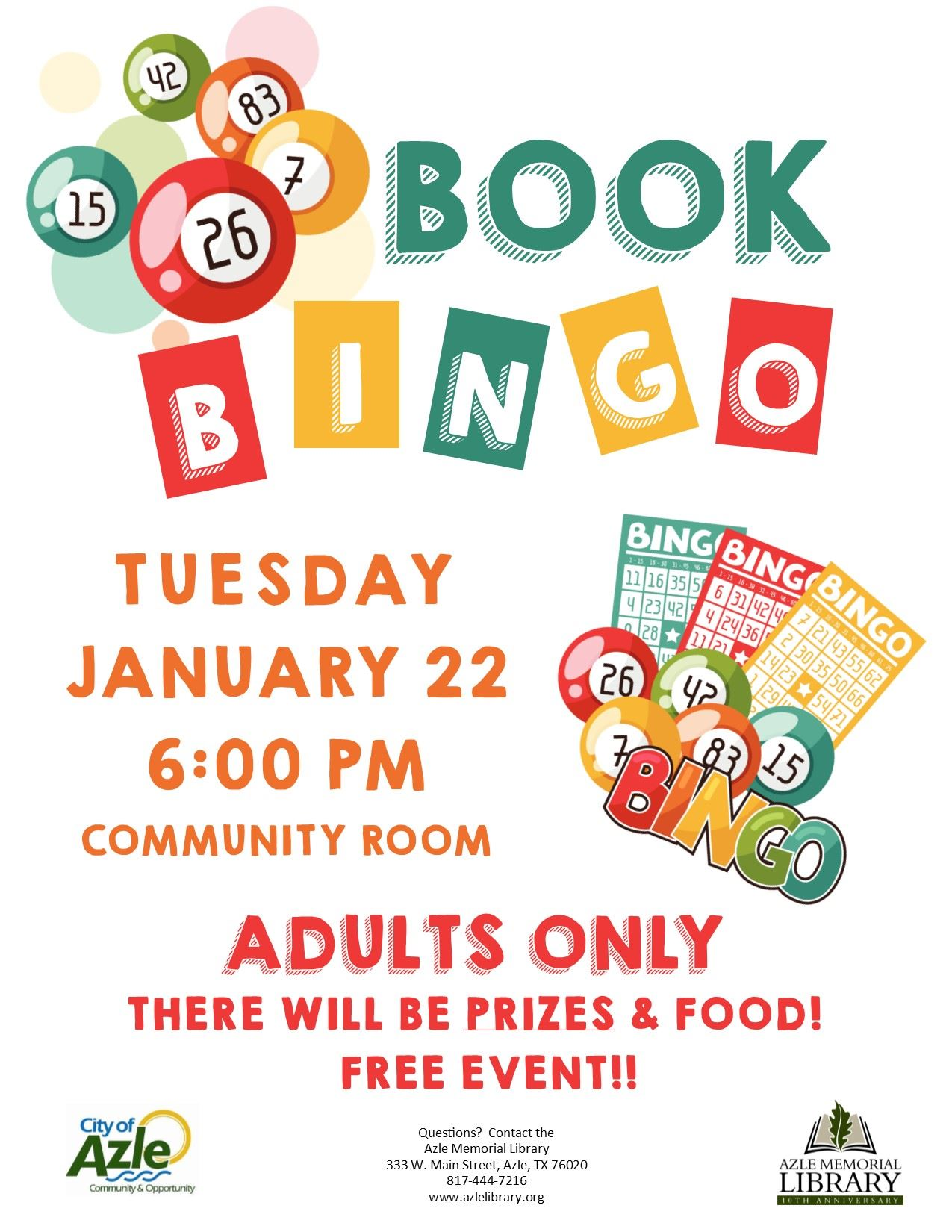 book bingo - anniversary - jan 2019